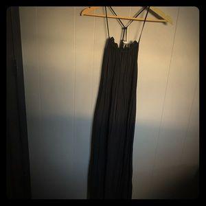 H&M midi black dress